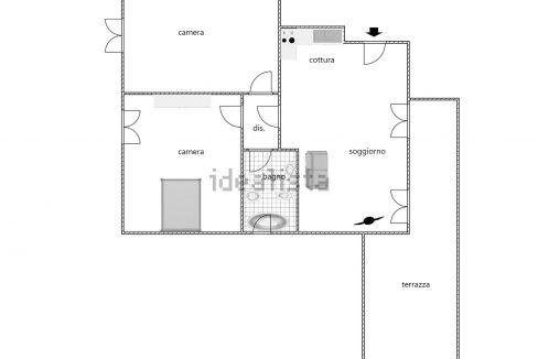 planimetria appartamento Calci La Gabella Pisa