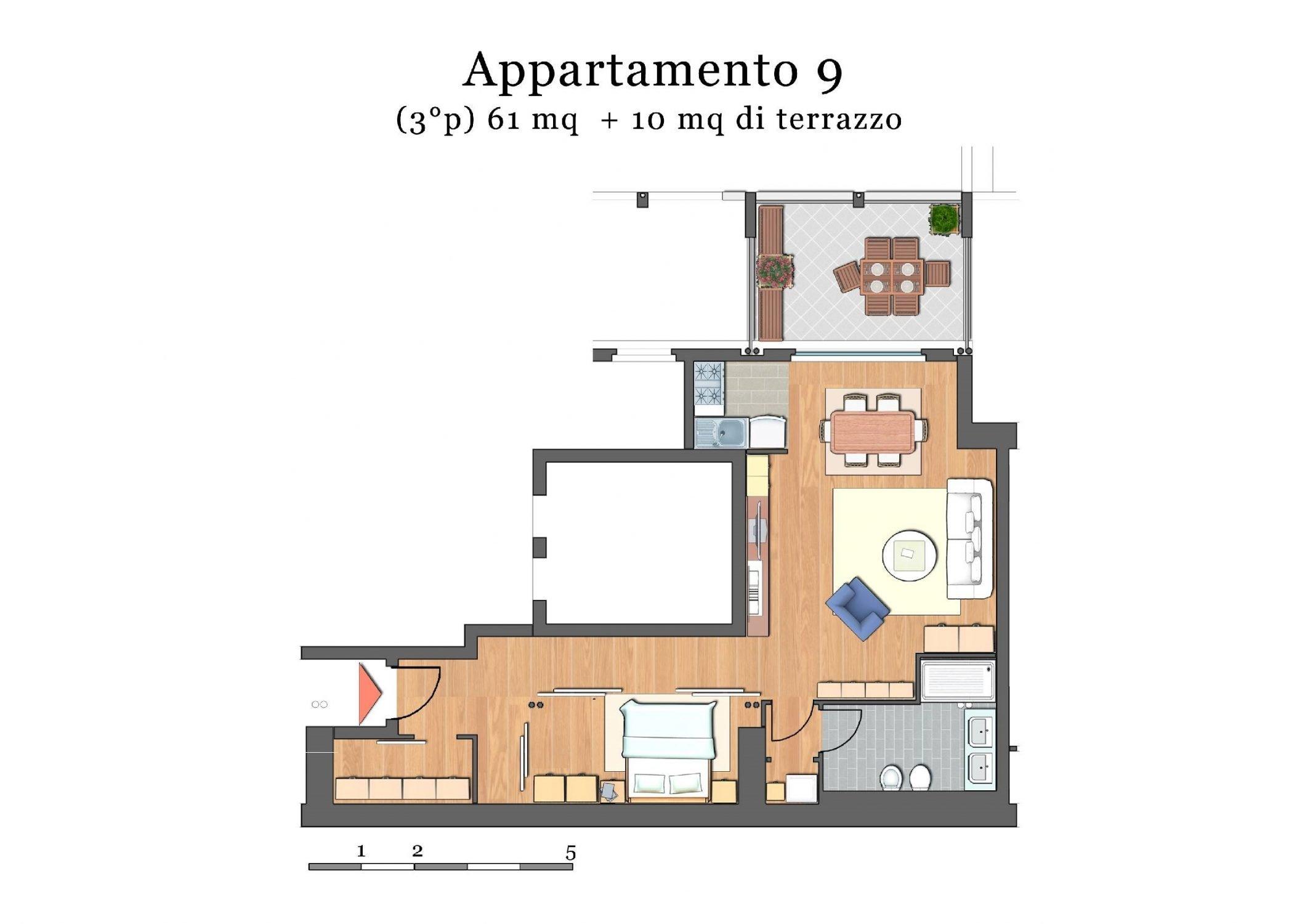 CORSO ITALIA – Bilocale con terrazza abitabile